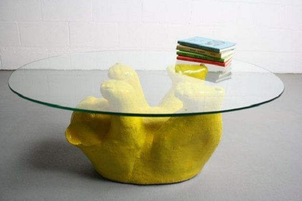 Ordinaire Bear Coffee Table With Glass Top