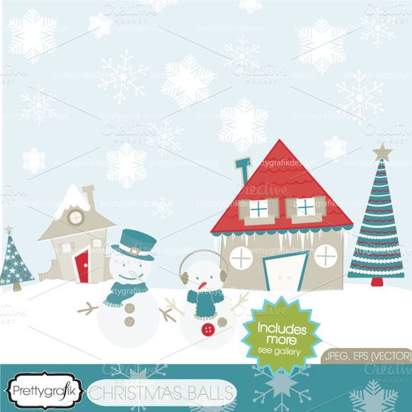 check out holiday christmas scene clipart by prettygrafik design on rh pinterest co uk christmas scene clip art free christmas scene clipart black and white