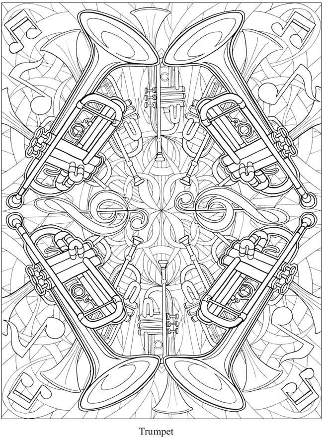Creative Haven Musical Kaleidoscope Coloring Book