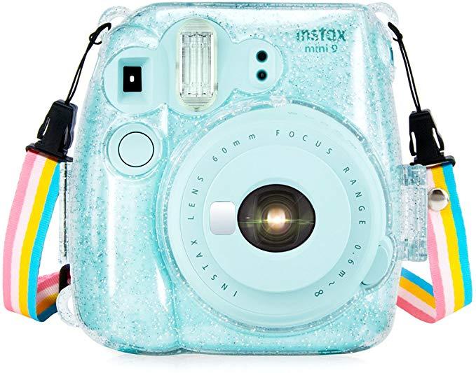Amazon Com Wolven Protective Clear Case Compatible With Instax Mini 9 Mini 8 Mini 8 Instant Camera Crystal E Instax Mini Fujifilm Instax Instant Camera