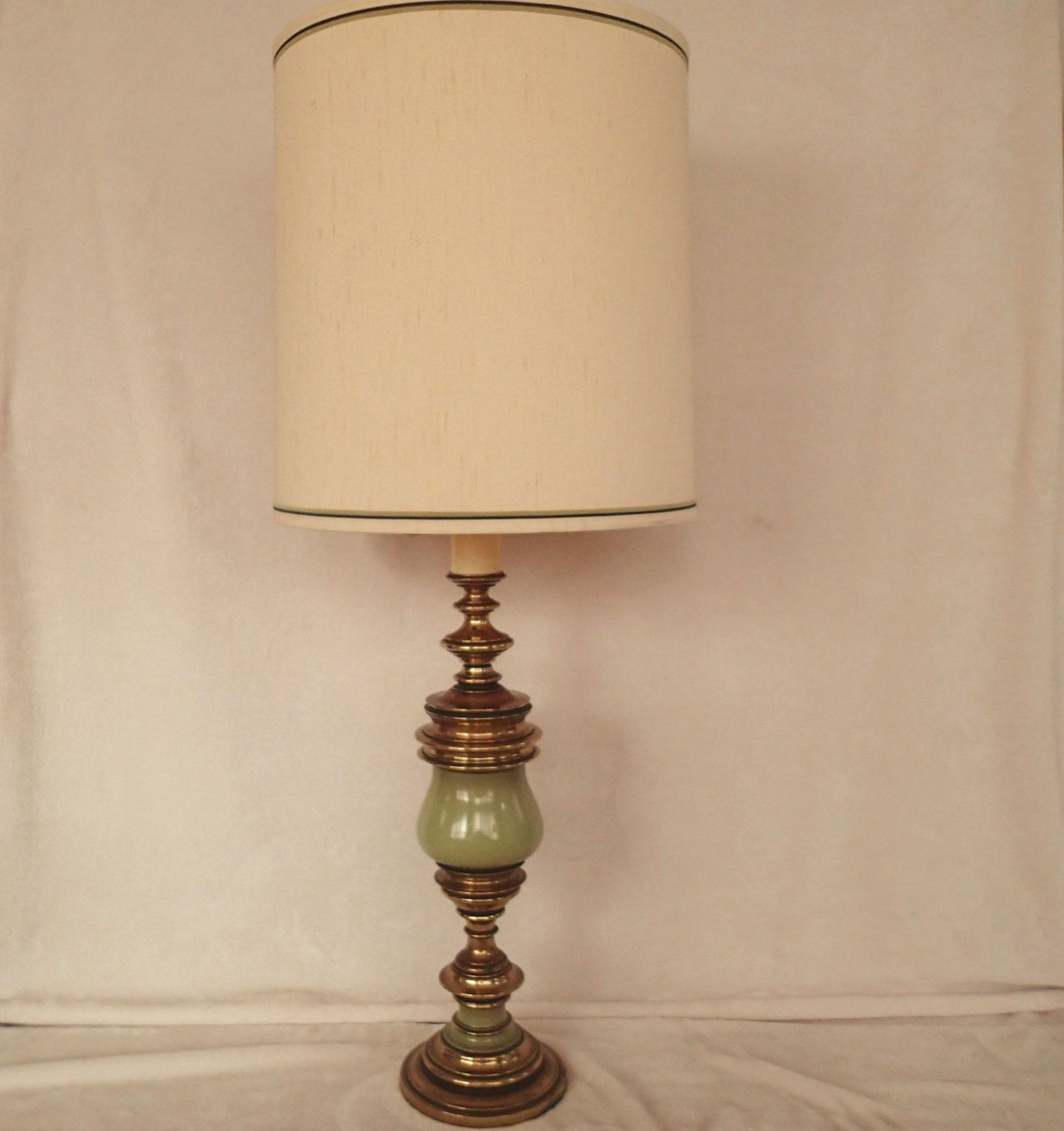 Table lamp green enameled brass hollywood regency mid century table lamp green enameled brass hollywood regency mid century antique satin original matching vintage aloadofball Choice Image