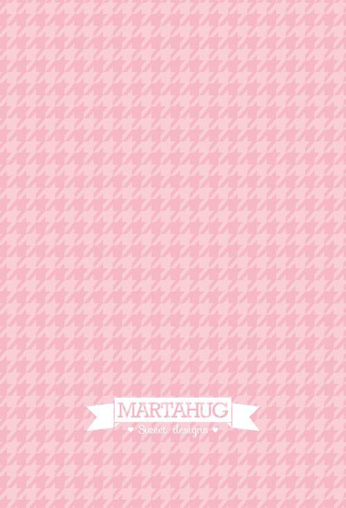 Phone Wallpaper Houndstooth Pattern Pink Wallpaper