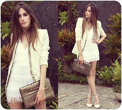 Labellamafia Dress, Romwe Blazer, Romwe Clutch