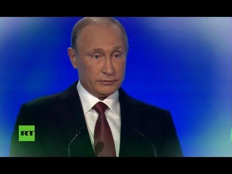 Wladimir Putin ist besorgt über die Weltlage, kritisiert kriminellen Eliten _ Valdai-Forum 2016 - YouTube