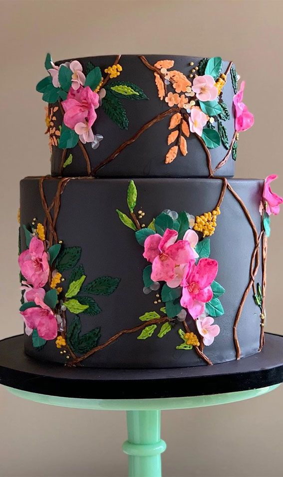 These 50 Jaw-Dropping Wedding Cakes Deserve To Be Framed : 3d floral pattern