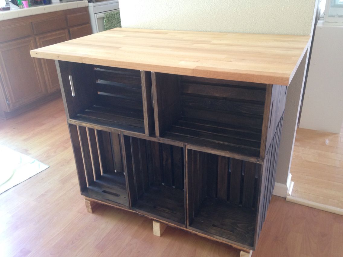 Easy Kitchen Island With A Real Butcher