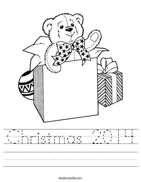 Christmas 2014 Worksheet - Twisty Noodle | Christmas ...
