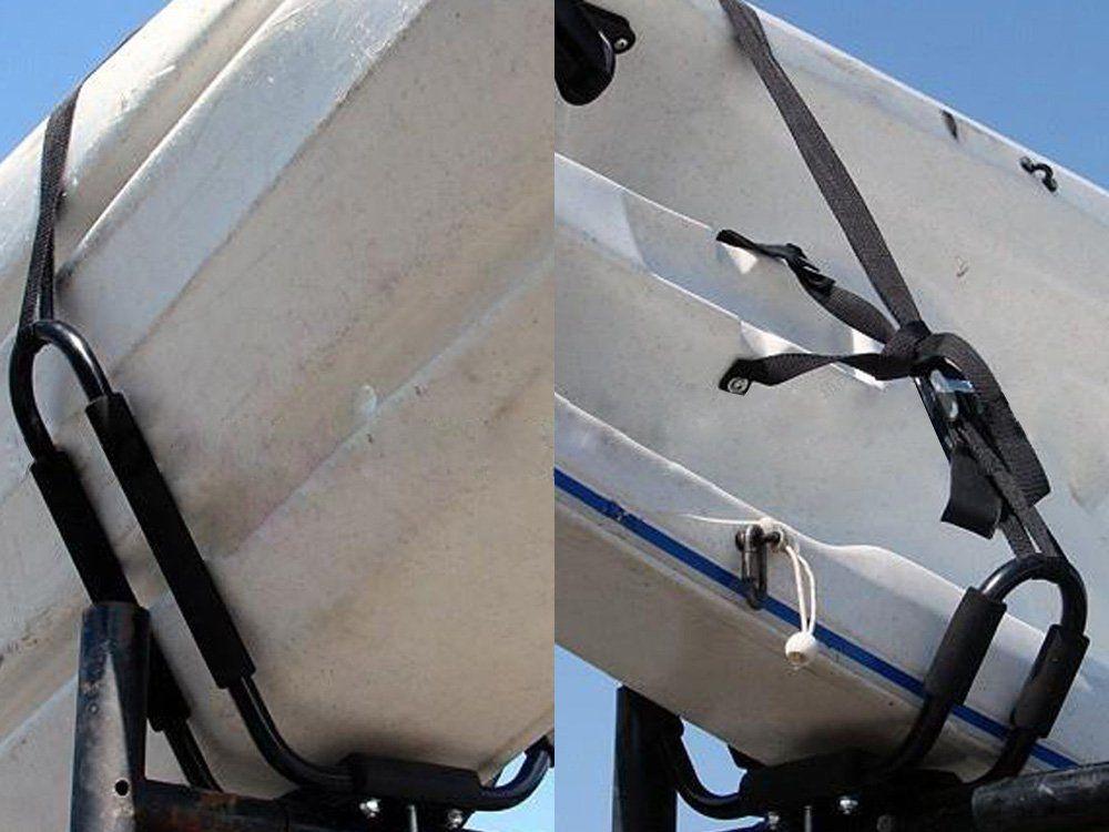 Tengchang 4 Racks Kayak Carrier Canoe Roof Top Mounted Rack