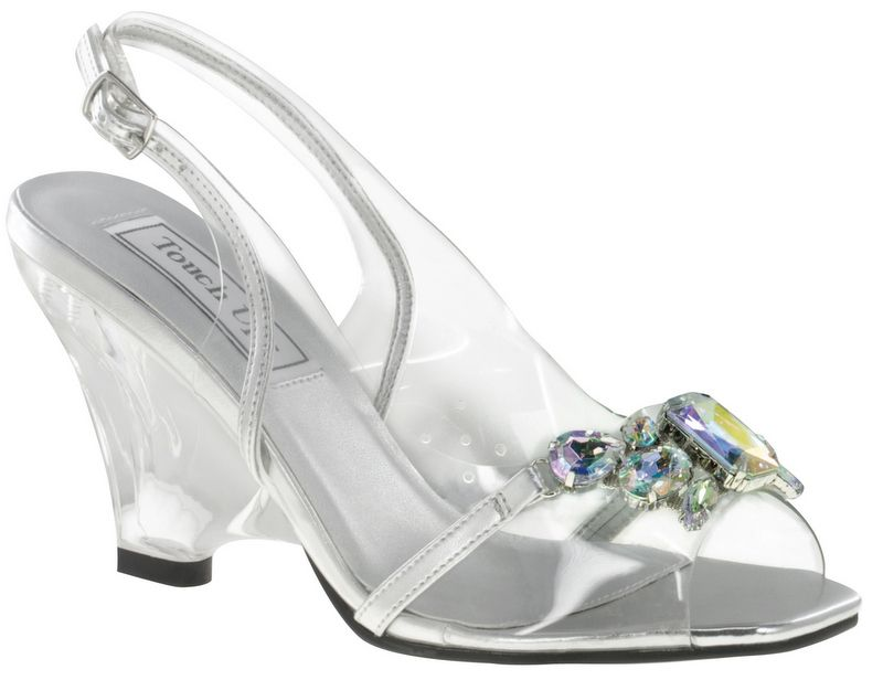clear touch ups candy bridal shoes 6999 the cinderella slipper get an update with aurora