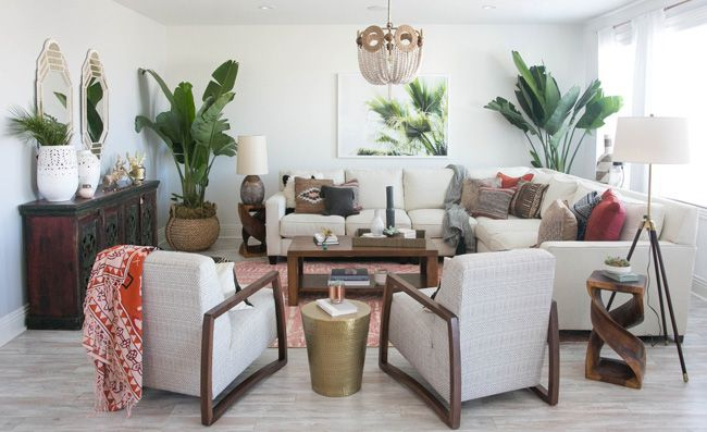 A Bohemian Living Room Makeover By Decorist a u d r i n a