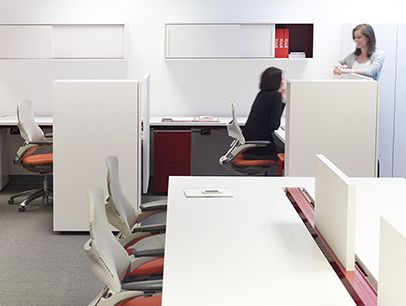 Antenna Workspaces Tags / Keywords:  Antenna Workspace Antenna Design Antenna Big Table Hinged Access Top Fabric Screen Fence Generation Chair Open Plan Media ID: 11671t