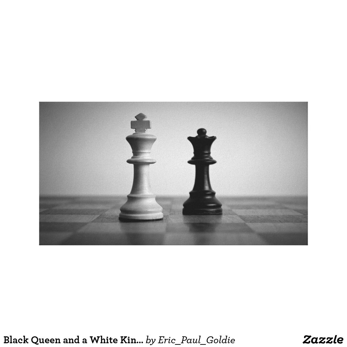 Black queen and a white king artistic photo chess art photography blackandwhite blackandwhitephotography canvasart