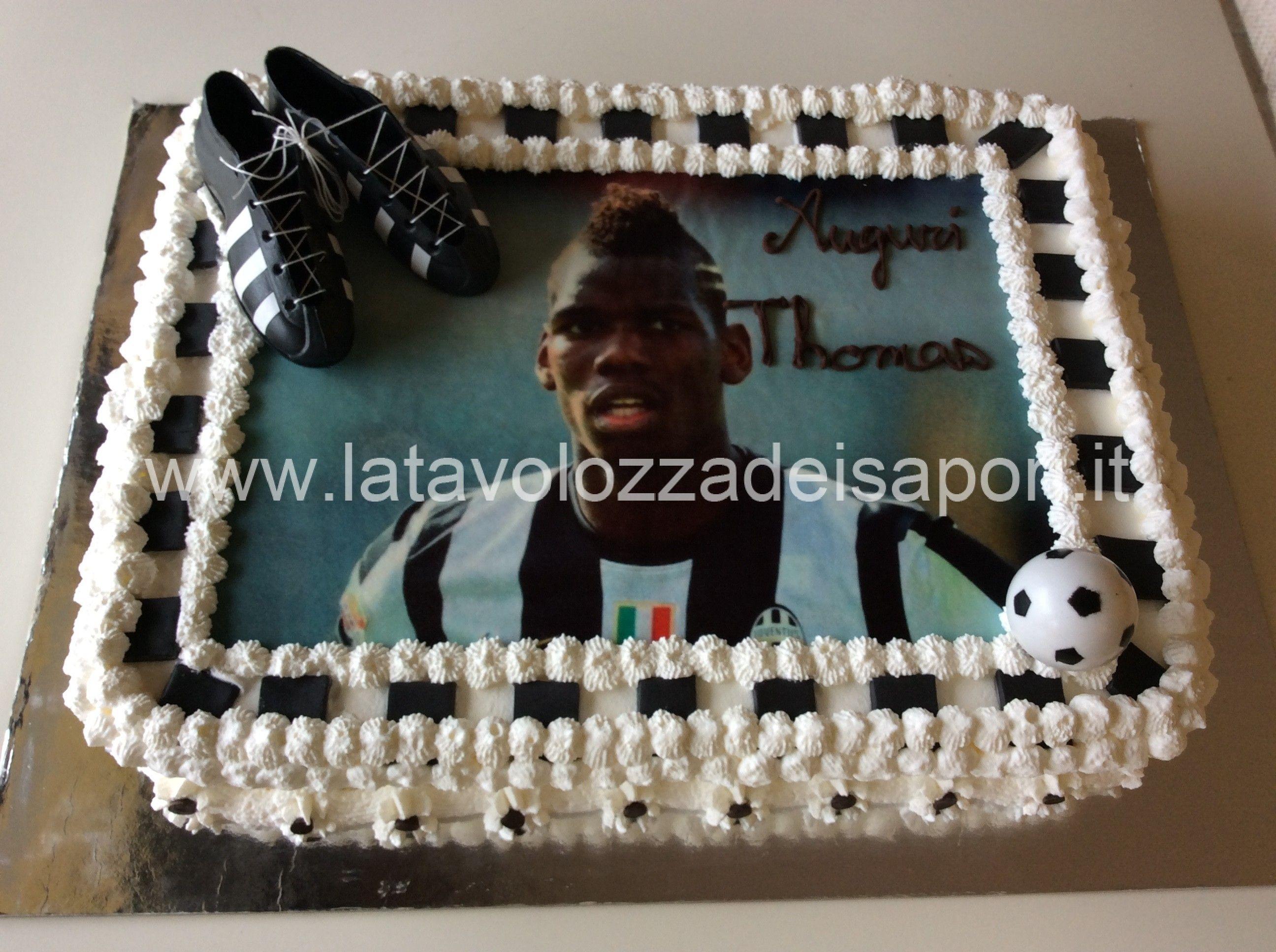 torta juventus con cialda di paul pogba http://www ... - Decorazioni Torte Juventus