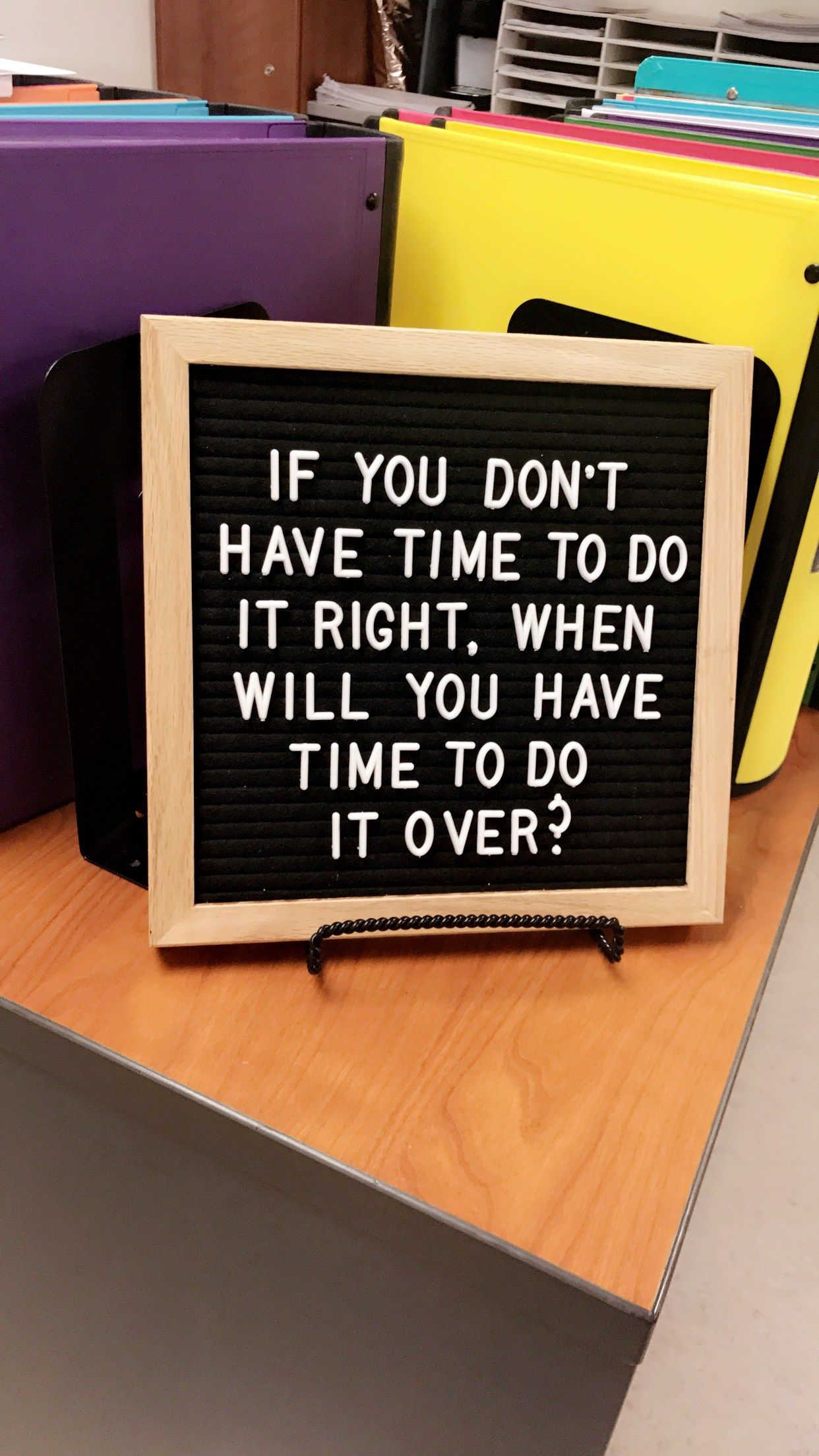 The Difference Between Ordinary and Extraordinary is that Little Extra: The Letter Board