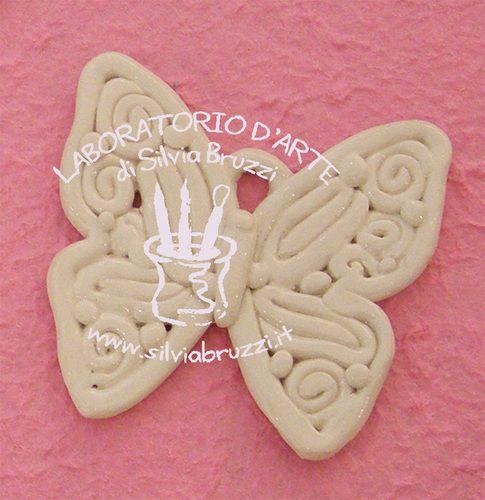 Farfalla rocaille ceramiche artistiche