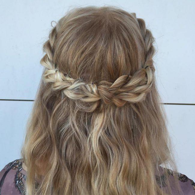 60 Cute Easy Half Up Half Down Hairstyles: Wedding, Prom ...