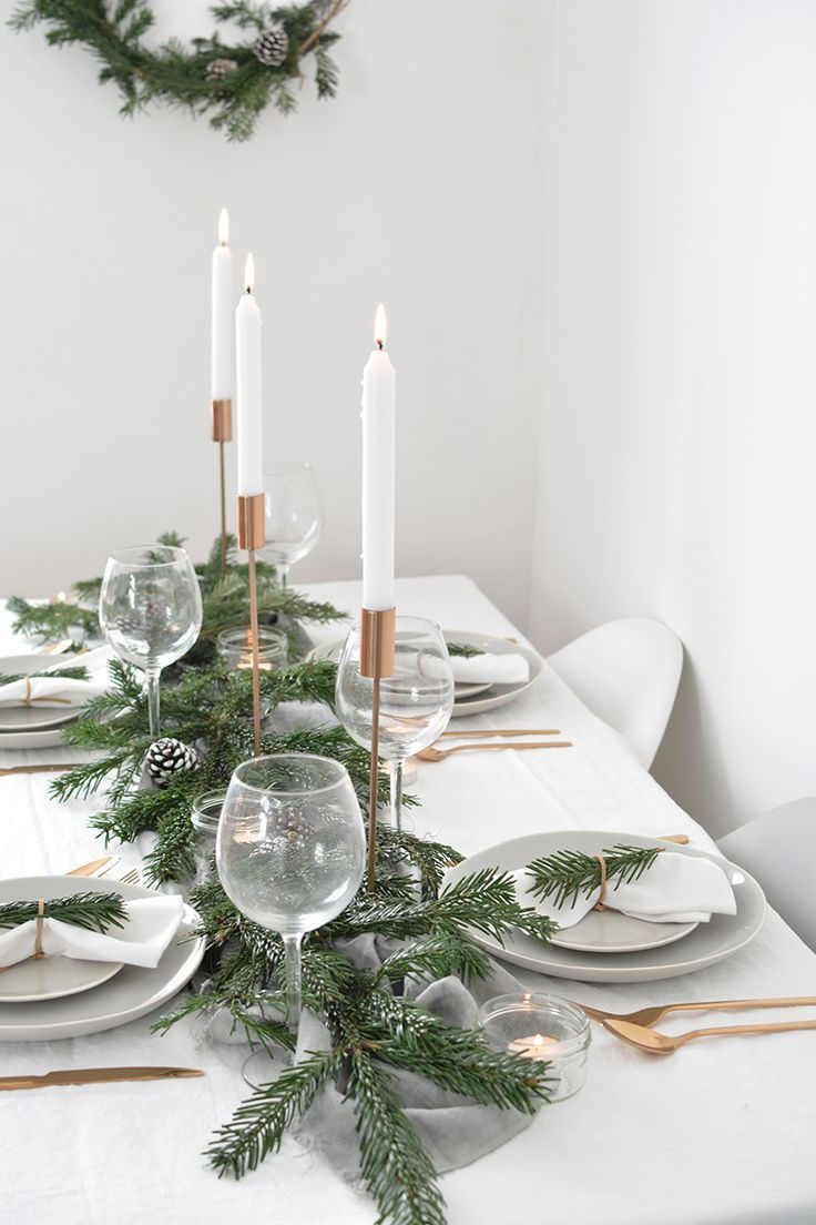 How To Create A Modern Christmas Tablescape Scandinavian Christmas Decorations Minimalist Christmas Decor Christmas Table Decorations