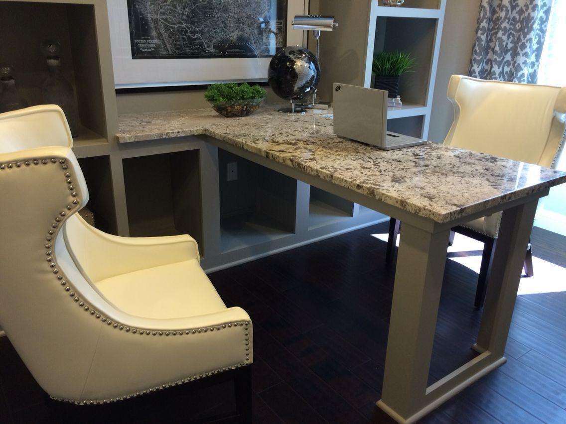 Built In Desk With Granite Top Granite Tops