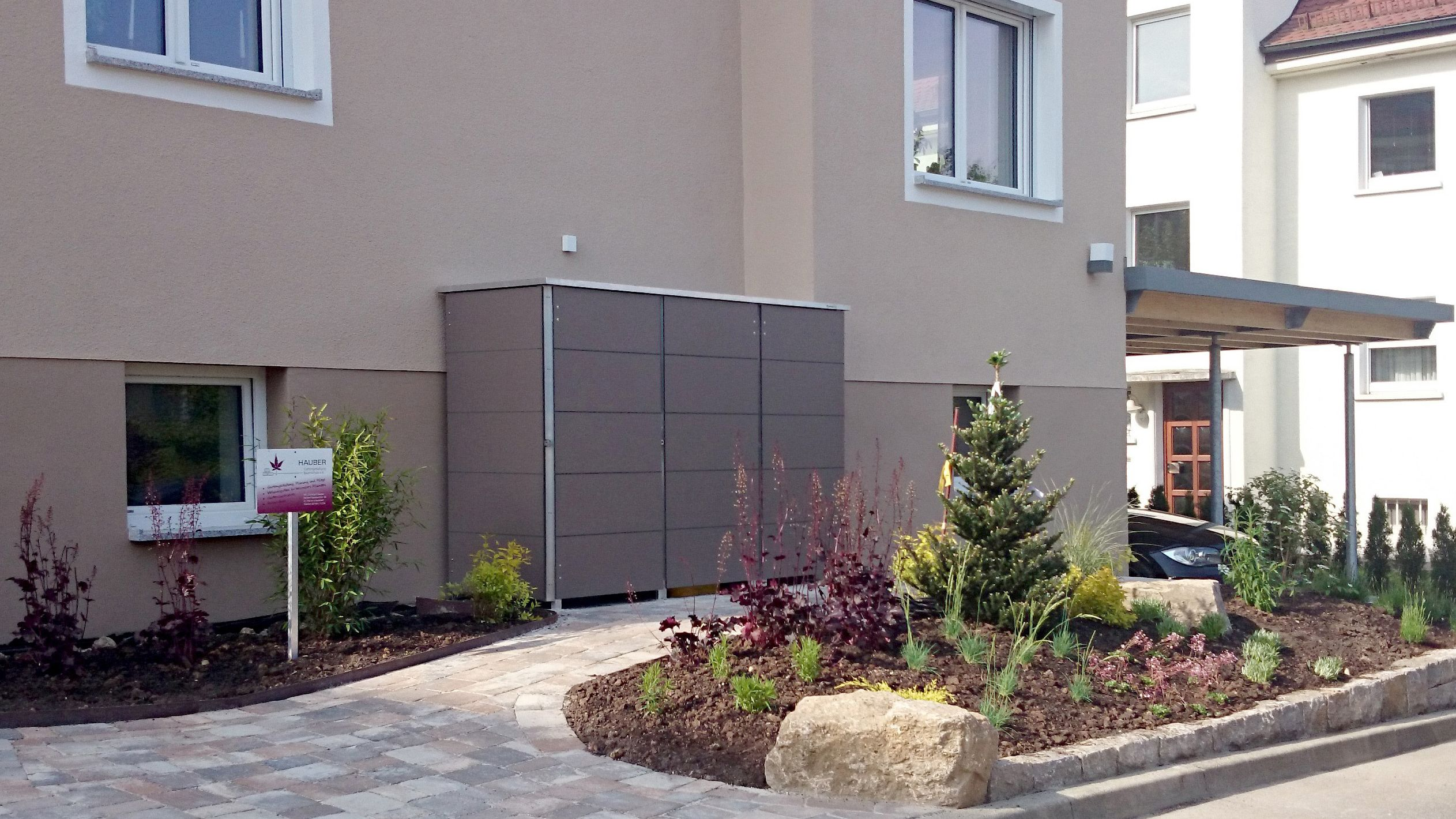 Design Mullboxen Von Garten Q Design Gartenhaus Gartenhaus Modern Mulltonnenbox