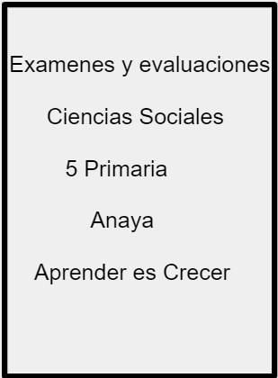 Descargar O Abrir Examenes Y Evaluaciones Con Soluciones De Ciencias Sociales 5 Primaria Anaya Aprend Socialismo Ciencias Sociales Ciencias Sociales Primaria