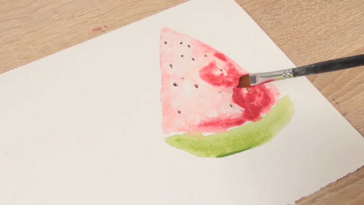 Lets Paint Some Watermelon With Watercolors Its Easy And Fun You