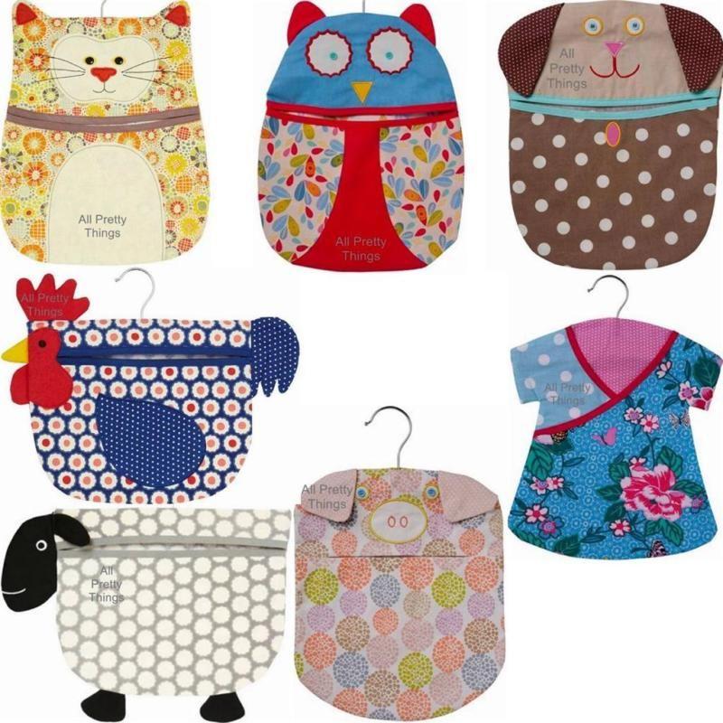 Cotton PEG BAG Cat Dog Owl Sheep Chicken ULSTER WEAVERS Laundry ...