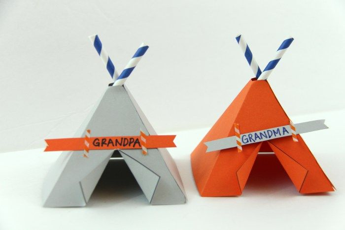 Teepee Name Place Cards