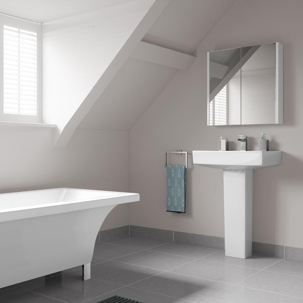 soak Armadietto da Bagno con Specchio, Design Moderno, 600