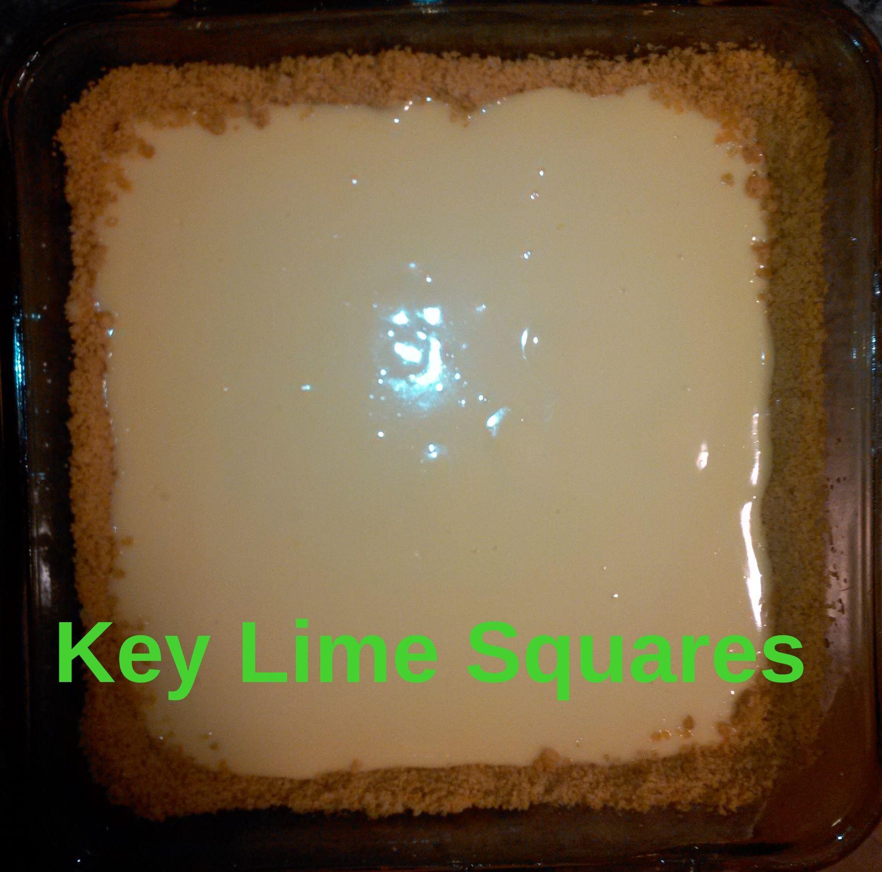 Snow & Key Lime Squares Key lime squares, Key lime, Lime