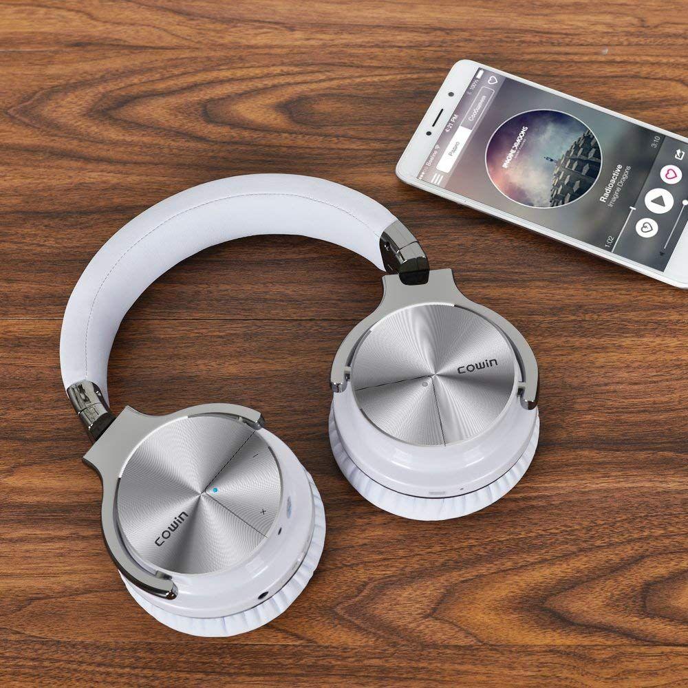 2f1484e0b88 COWIN E7 PRO [2018 Upgraded] Active Noise Cancelling Headphone Bluetooth  Headphones with Microphone Hi-Fi Deep Bass Wireless Headphones Over Ear 30H  ...
