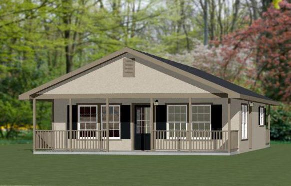 Tiny Home Designs: 28x32 House -- PDF Floor Plan -- 848 Sq Ft -- Model 2K In
