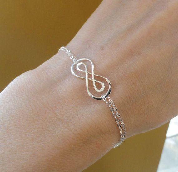Silver Double Infinity Symbol Bracelet Figure By Briguysgirls