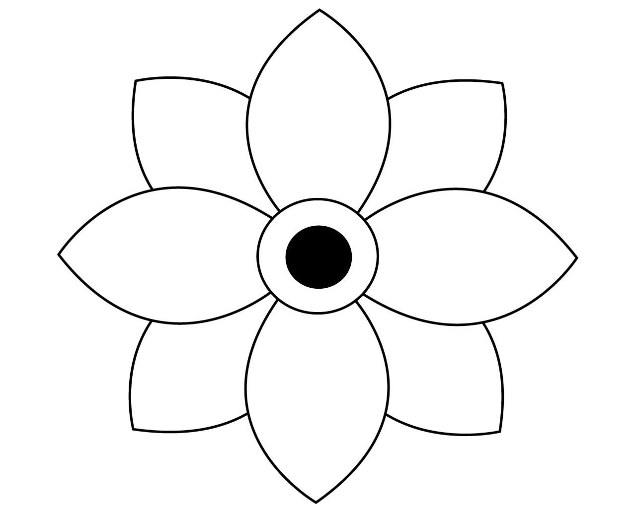 Free Simple Flower Coloring Pages | Flower coloring pages ...