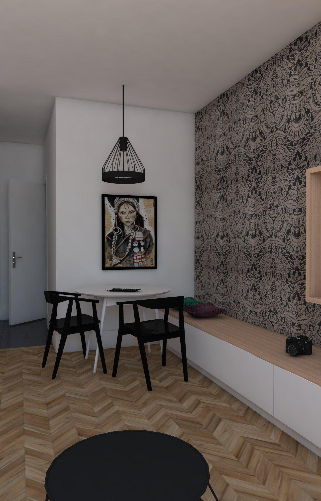 petits espaces coin salle manger dans le salon salle manger avec banquette meuble de. Black Bedroom Furniture Sets. Home Design Ideas