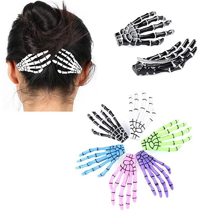 Amazon Com Cuhair 10pcs Fashion Hair Accessories Skeleton Claws Skull Hand Hair Clip Hairpin Zombie Punk In 2020 Hair Accessories Fashion Hair Accessories Hair Pins
