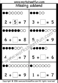 missing addend worksheet printable worksheets math worksheets free printable worksheets. Black Bedroom Furniture Sets. Home Design Ideas