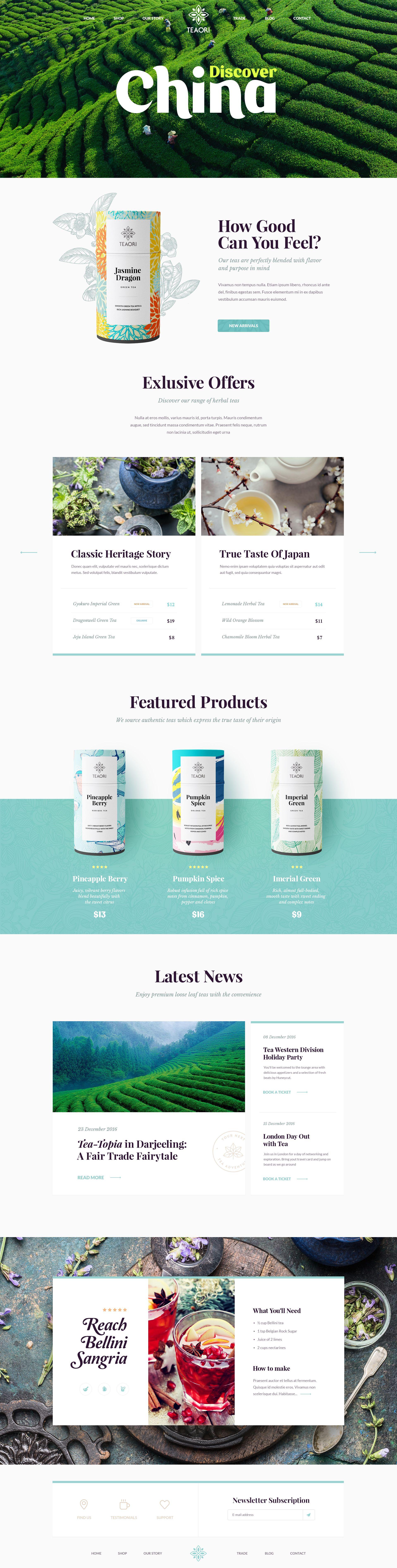 Web Site Design Tea Web Layout Design Site Design Creative Web Design