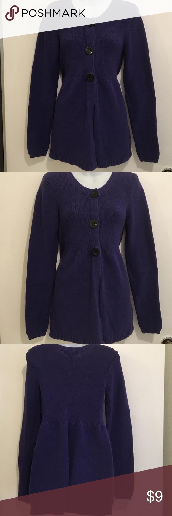 INC Sz L Deep Purple Long Sleeve Sweater💜 | D, Sweater cardigan ...