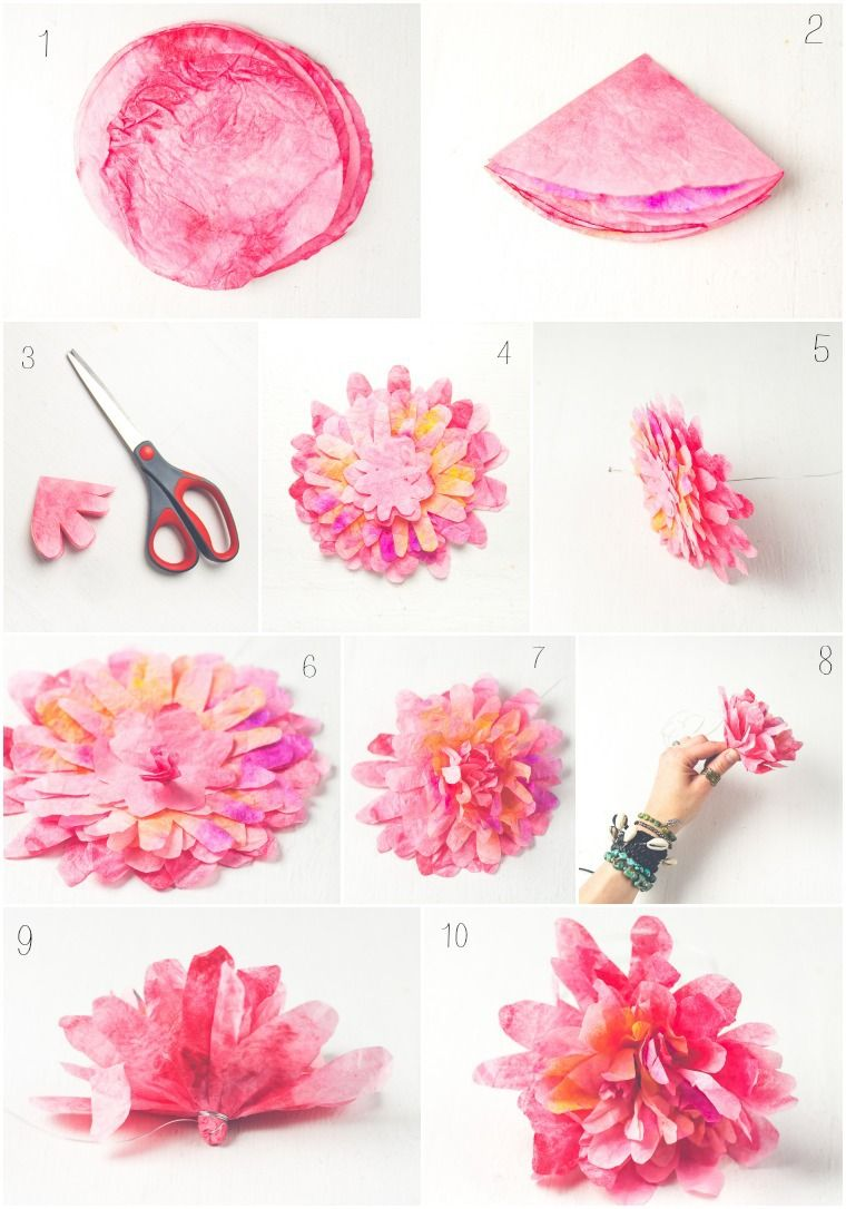 Diy Coffee Filter Flowers Coffee Filter Flowers Coffee And Flower