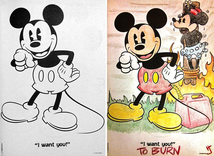 25 Ilustraciones Bizarras Que Suceden Solo Cuando Un Adulto Colorea