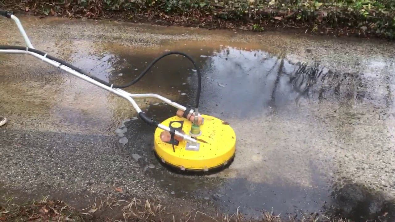 Surface Cleaning a driveway Surface cleaner, Cleaning