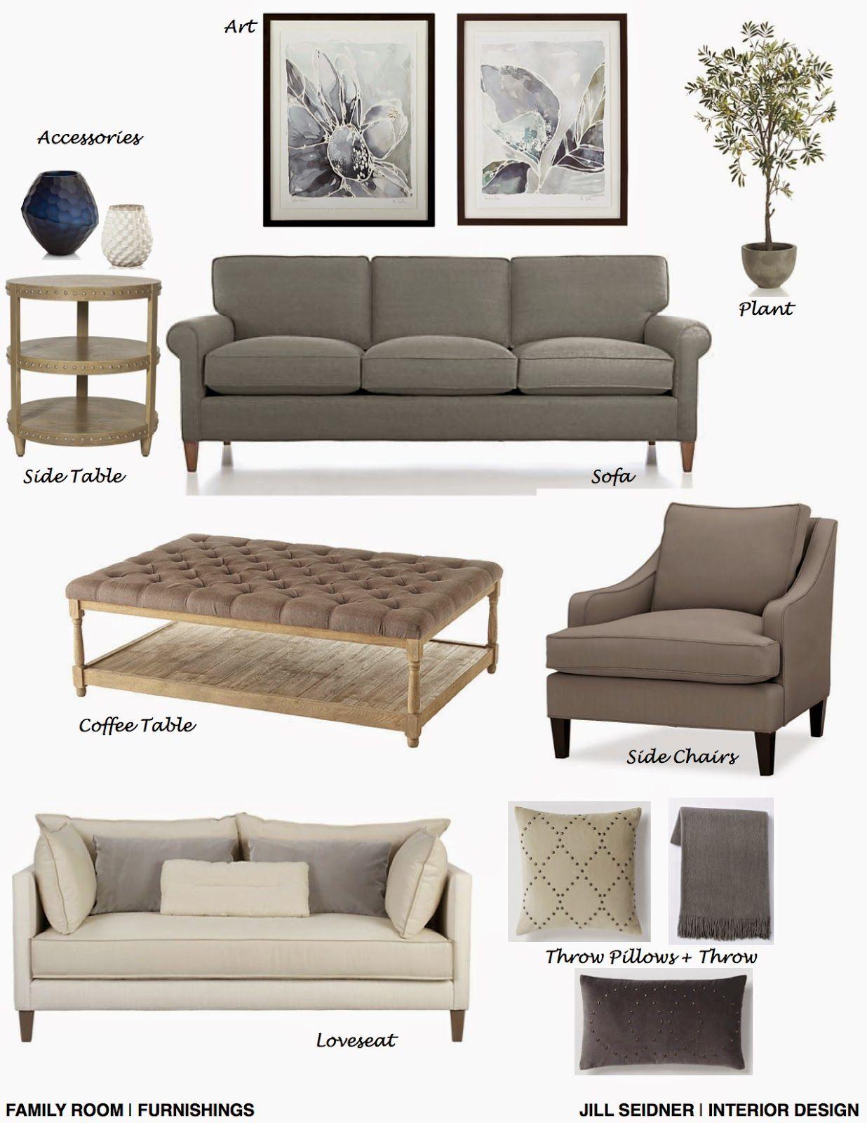 Concept Boards Family Room Design Interior Design Room Design