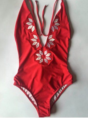 9e79106656 Tankini, Red Swimsuit, One Piece Swimsuit Red, Plunging One Piece Swimsuit,  Red