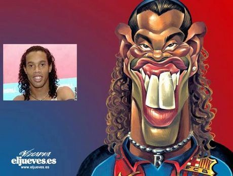Famous Soccer Players Funny Caricatures Caricature Weird Pictures