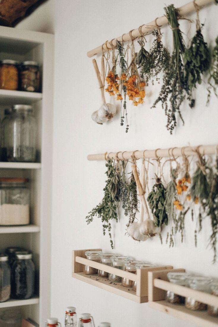 Photo of Simple DIY Herb Drying Rack For Your Garden Herbs in 2020 | Dekor, Diy küchenideen und Deko design