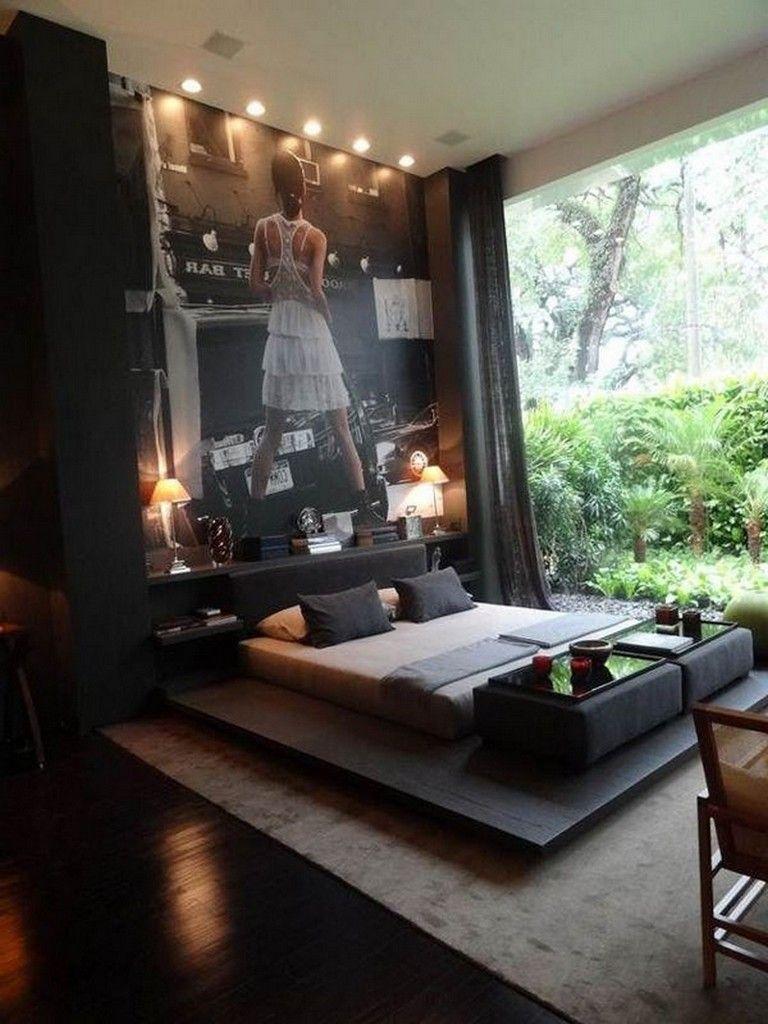 35 Masculine Bedroom Furniture Ideas That Inspire: 35+ Cozy Mens Apartment Masculine Decor #apartment