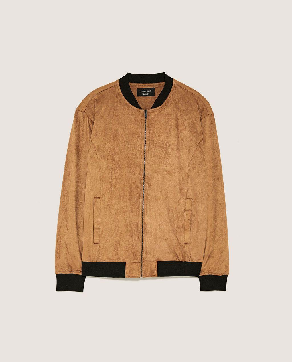 Faux Leather Bomber Jacket Faux Suede Jackets Man Zara United States