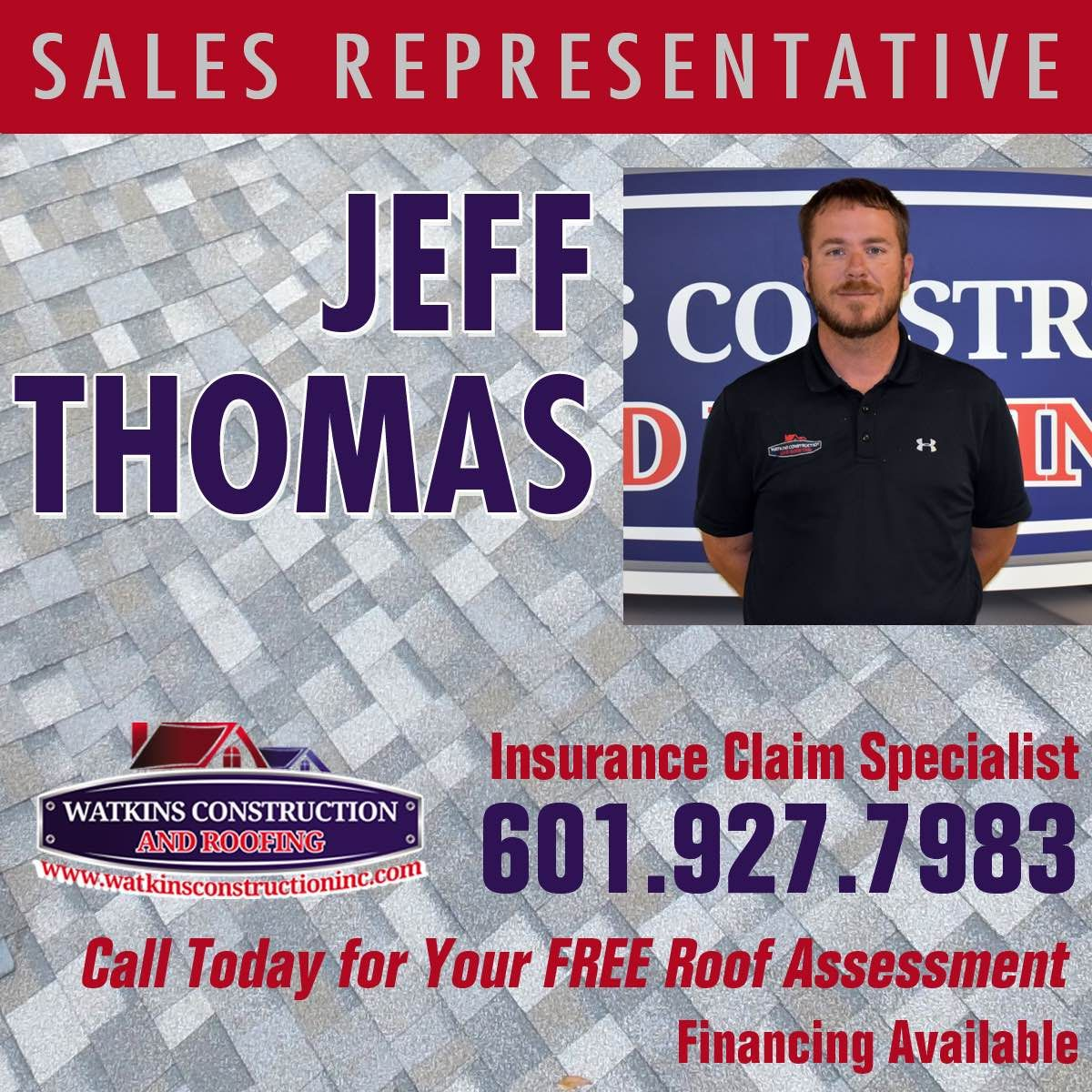 Give Jeff Thomas A Call For All Of Your Roofing Needs Www