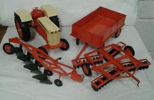 1 16 Ertl Farm Toy Case 1030 Tractor Wagon Disk Plow Set Farm Toys Tractors Toys
