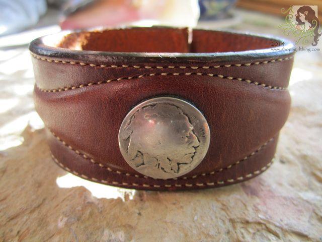 Indianhead Leather Bracelet